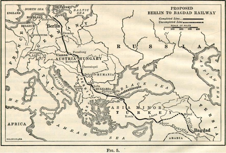 Planned Berlin to Baghdad Railway