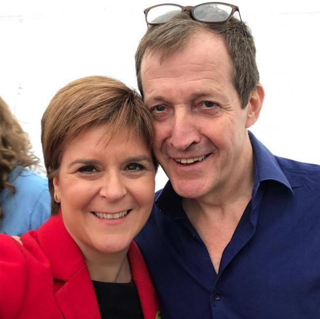 Nicola Sturgeon and Alastair Campbell